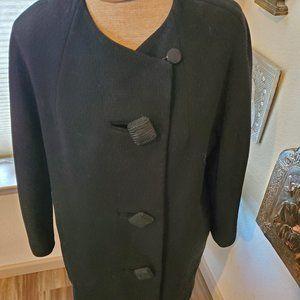 Vintage Jet Black Dress Coat